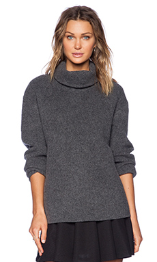Theory Mezia Turtleneck Sweater in Charcoal