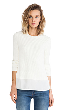 Theory Klemdy Sweater in Ivory Ice