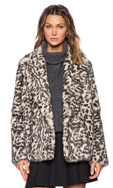 Theory Lianamar Sociable Fur Jacket in Natural Brown