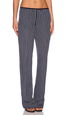 Theory Pajeema Main Stripe Pant in Light Navy & Ivory