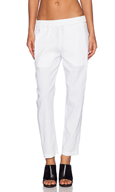 Theory Korene Crunch Pant in White