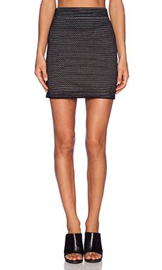 Theory Nilmee Prosecco Skirt in Black & Ivory