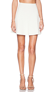 Theory Rortie Prosecco Skirt in Ivory Ice