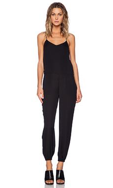 Theory Stassia Silk Jumpsuit in Black