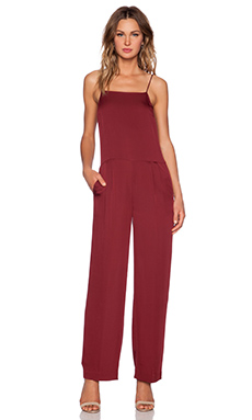 Theory Vintan Jumpsuit in Beetroot