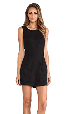 Theory Hadrine Romper in Black