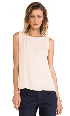Theory Maidena Tank in Pink Peach