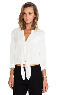 Theory Kevine Blouse in Ivory