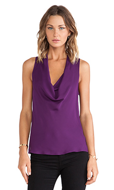 Theory Double Cowlneck Blouse in Windsow