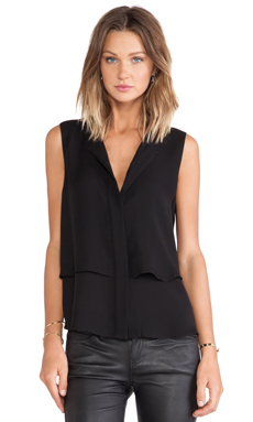 Theory Gentaire Tank in Black