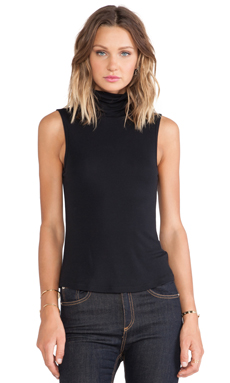 Theory Wendel Turtleneck Tank in Black