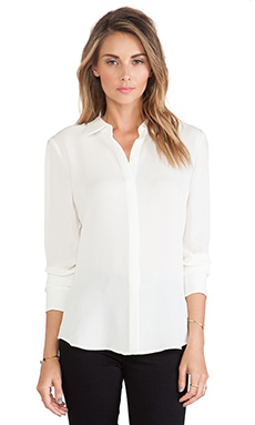 Theory Miska Blouse in Ivory
