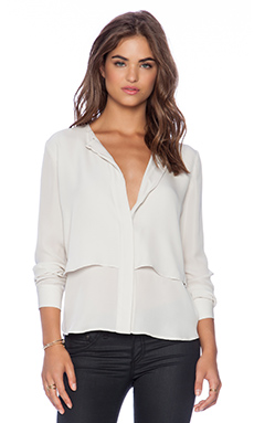Theory Gentalla Blouse in Pearl