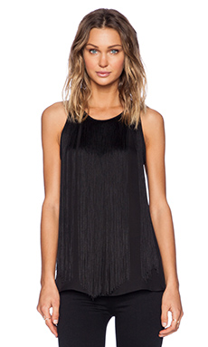 Theory Montien Silk Top in Black