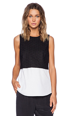 Theory Yuranda Eyelet Top in Black