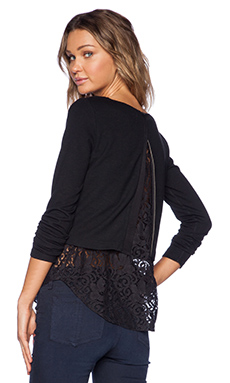 Theory Bente Long Sleeve Top in Black