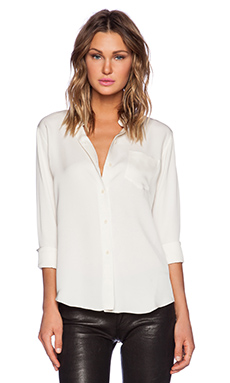 Theory Perfect Modern Blouse in Muslin