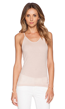 Theory Fopen Tank in Light Cameo