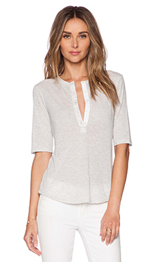 Theory Martola Top in Light Grey