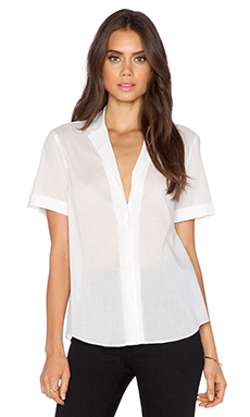 Theory Enoda TS Button Up in White