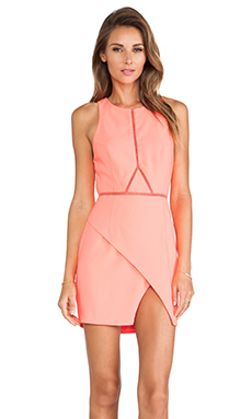 Three of Something Optics Dress in Pink Flamingo
