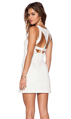 Three of Something Escape Dress in White