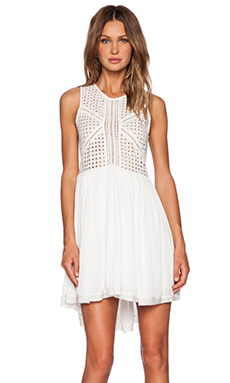 Three of Something Dejavu Dress in White