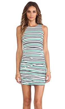 Three of Something Imitation Dress in Stripe
