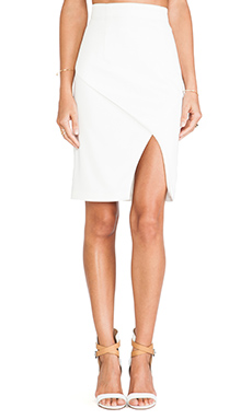 Three of Something Refraction Skirt in White