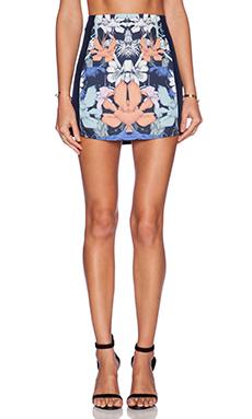 Three of Something Hyper Floral Mini Skirt