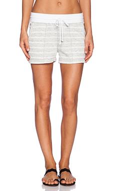 three dots Shorts in Grey & Ivory