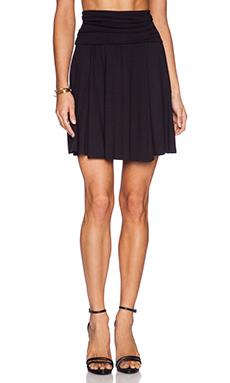 three dots Mini Skirt in Black