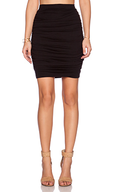 three dots Ruched Skirt in Black