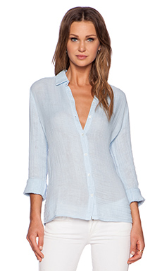 three dots Long Sleeve Shirt in Chambray