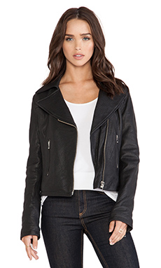 thvm Behati Leather Jacket in Black