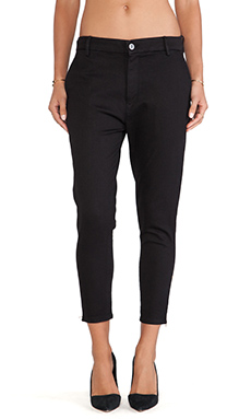 thvm Black Zip Trouser in Night
