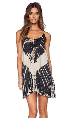 Tiare Hawaii Voile Stud Dress in Brown Cream Vibe