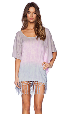 Tiare Hawaii Tropics Dress in Mauve Blue Dot Gradasi
