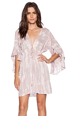 Tiare Hawaii Lily Long Sleeve Dress in Cream & Skin Sabia