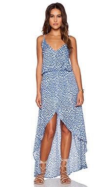 Tiare Hawaii Boardwalk Dress in Blue Cairo Print