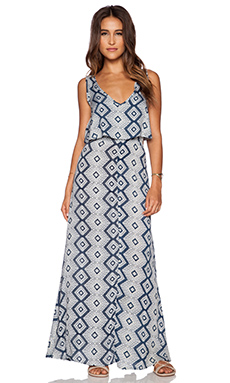 Tiare Hawaii Desert Island Dress in Navy & Grey Yucatan