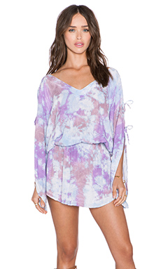 Tiare Hawaii Aphrodite Dress in Blue, Purple & Cream Island