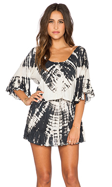 Tiare Hawaii Rosie Dress in Black & Cream Vibe