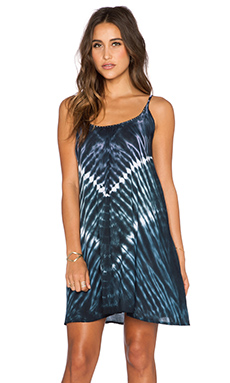 Tiare Hawaii Voile Stud Mini Dress in Purple, Blue & Black Vibe