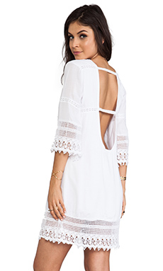 Tiare Hawaii Flores Mini Dress in White