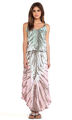 Tiare Hawaii Copacabana Printed Maxi Dress in Teal & Grey & Blue Vibe