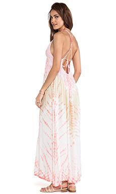 Tiare Hawaii Adair Vibe Maxi Dress in Orange & Dark Skin
