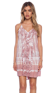 Tiare Hawaii Laguna Frill Dress Tie Dye in Mauve White