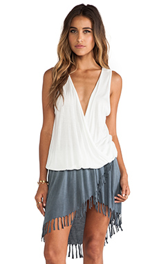 Tiare Hawaii Cheyenne Mini Dress in Grey & Cream