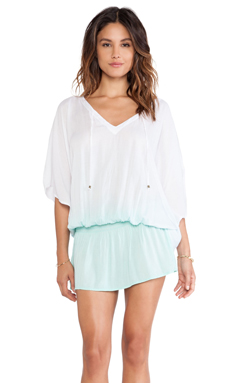Tiare Hawaii Jimbaran Tunic in White and Teal